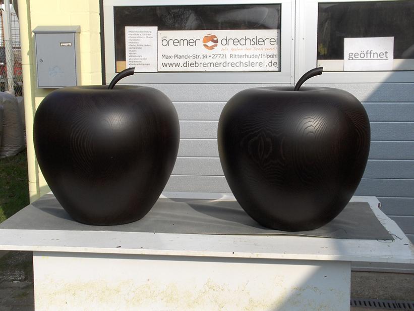 Deko-Äpfel Esche gebeizt, Ø ca. 60cm