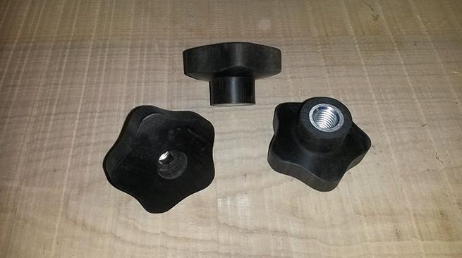 Sterngriffe aus Ebenholz für Espressomaschinen