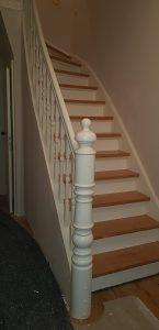 Treppengländer mit Pfosten in altbremer Haus