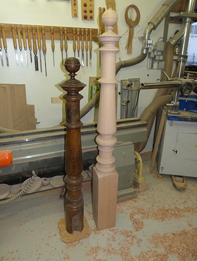 Treppenpfostennachbildung aus altbremer Haus